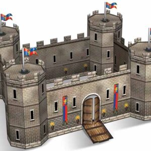 A Castle Centerpiece 3-D 18x14'