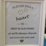A Heart Guest Book Sign in Frame