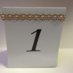 Table Number with Rose Gold accent