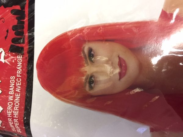 cos acc wig red superhero