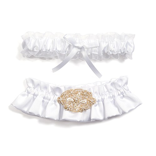 wed acc garter set 5059w_bev-clark-with lace app and prl and embridery