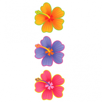easter flower cutouts 13x12in 190362