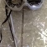 masq mask silver black with dowel