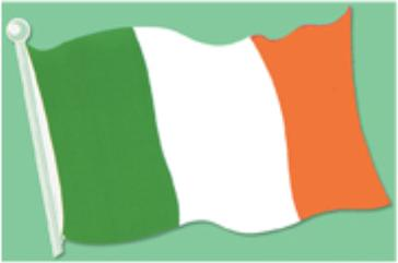 st pat irish flag cutout r55895-18
