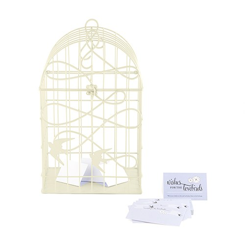 wed acc bird cage card box beige 9117-79-ws_