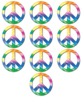theme 60 peace sign cutotrs 10ct 54186 3.99