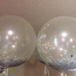 decor bal confetti filled at bottom
