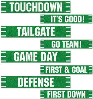 theme sports football 4 signs 4x24in r54674