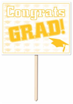 grad lawn sign r54906-gd