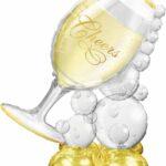 Bubbly Wine Glass