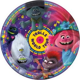 bday trolls plates 77475 uni