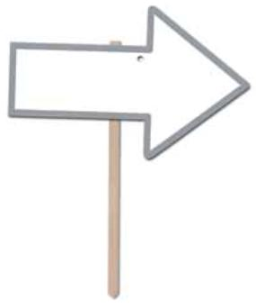 wed arrow sign r54908