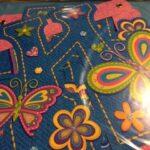 bday bnr hbd denim butterfly