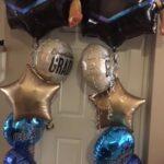 grad bal foil bouquet cap and 2 prt 2 plain foil
