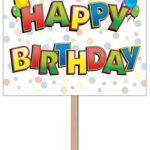 bday lawn sign hbd 12x15in r53799